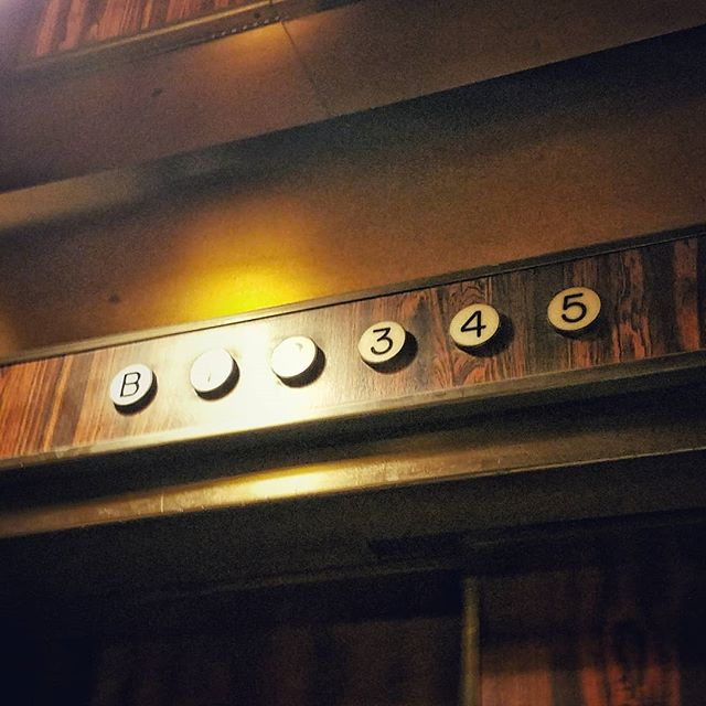 Going, going... . . . #elevator #oldelevator #closeup #old #midcentury