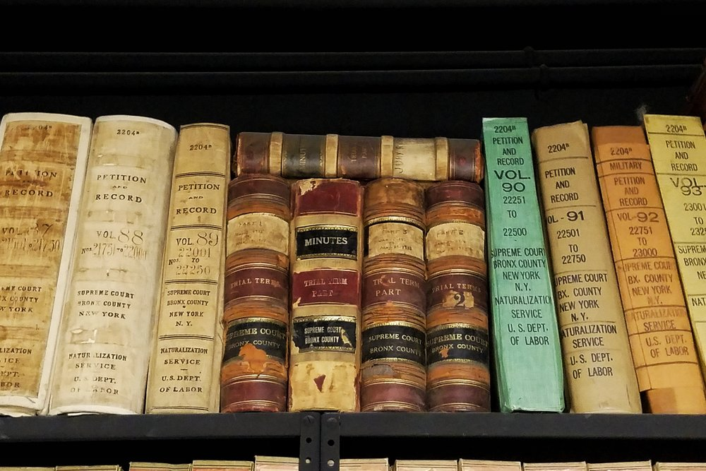 Volumes of naturalization records