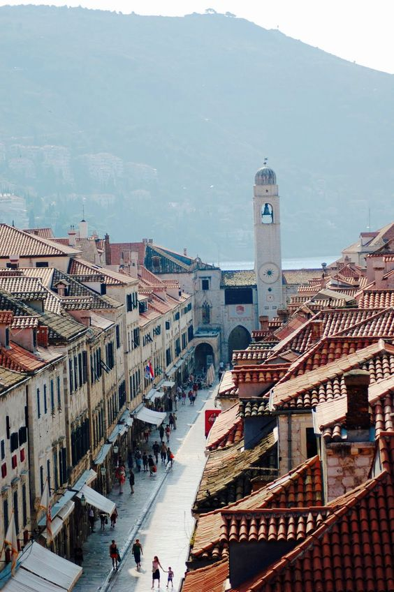 Stradun Clocktower, Dubrovnik