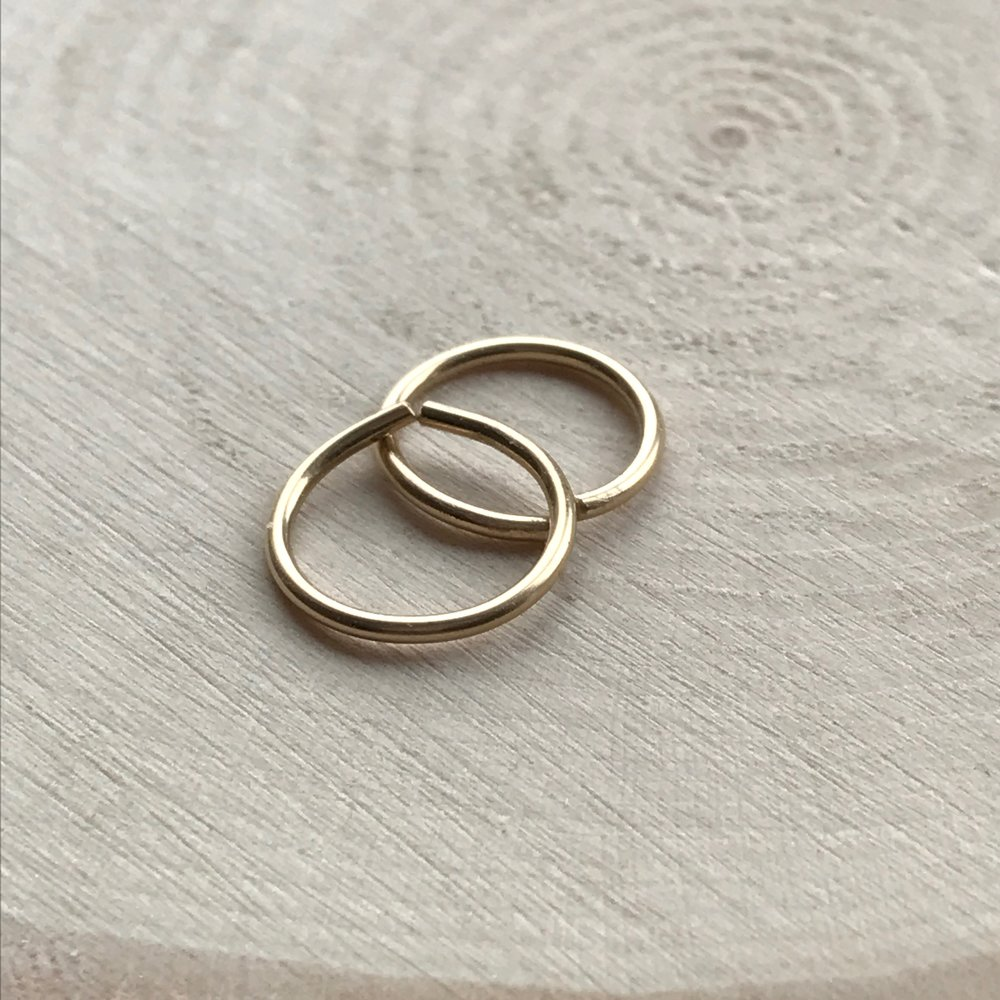 14k Gold fill, 10mm diameter, 18ga handmade in UK