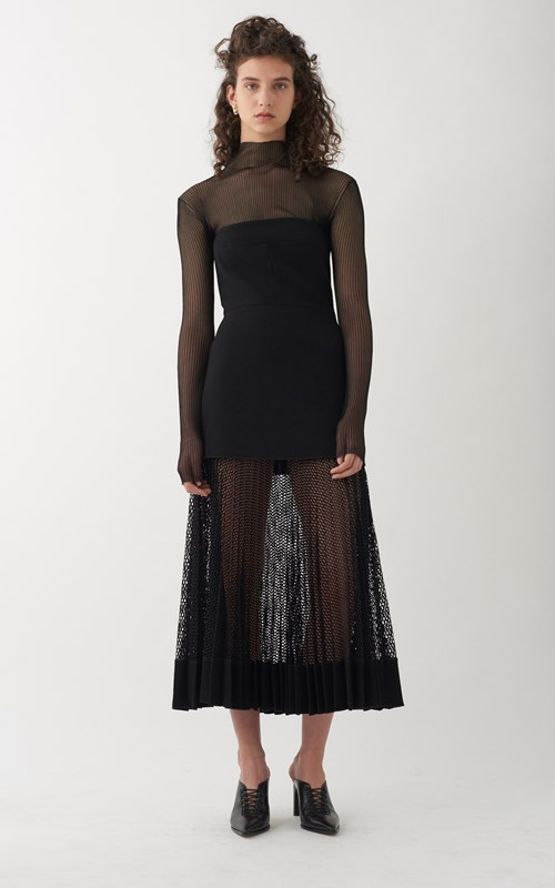 Net pleat strapless dress by Dion Lee   Photo credits: www.dionlee.com