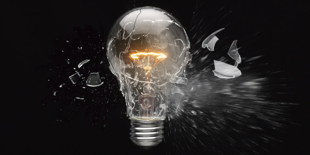 Shattered Lightbulb  (  Public domain, Huffington Post)