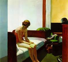 Hotel Room - Painting by Edward Hopper  (public domain)