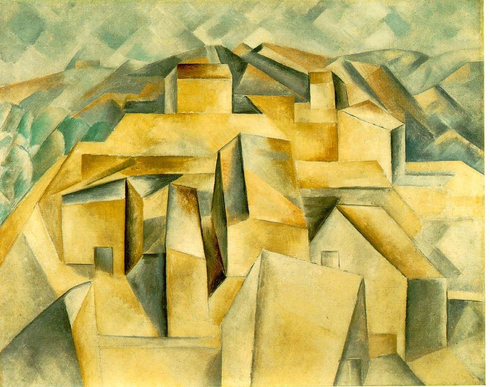 Houses on the Hill - Painting by Pablo Picasso  (public domain)