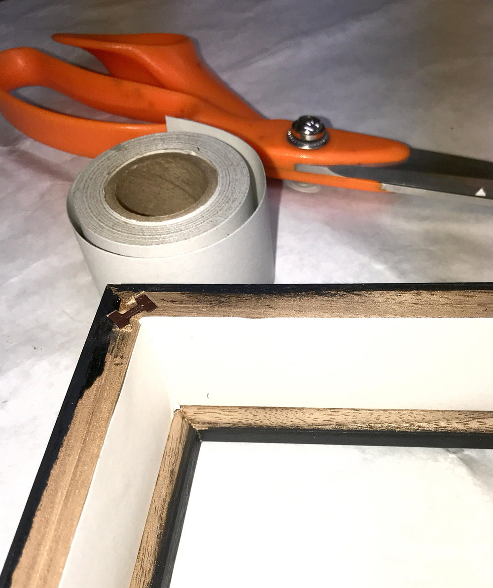 Seal Frames on the inside of the rabbet to prevent acid from the wood frame migrating into your artwork and mat over time.