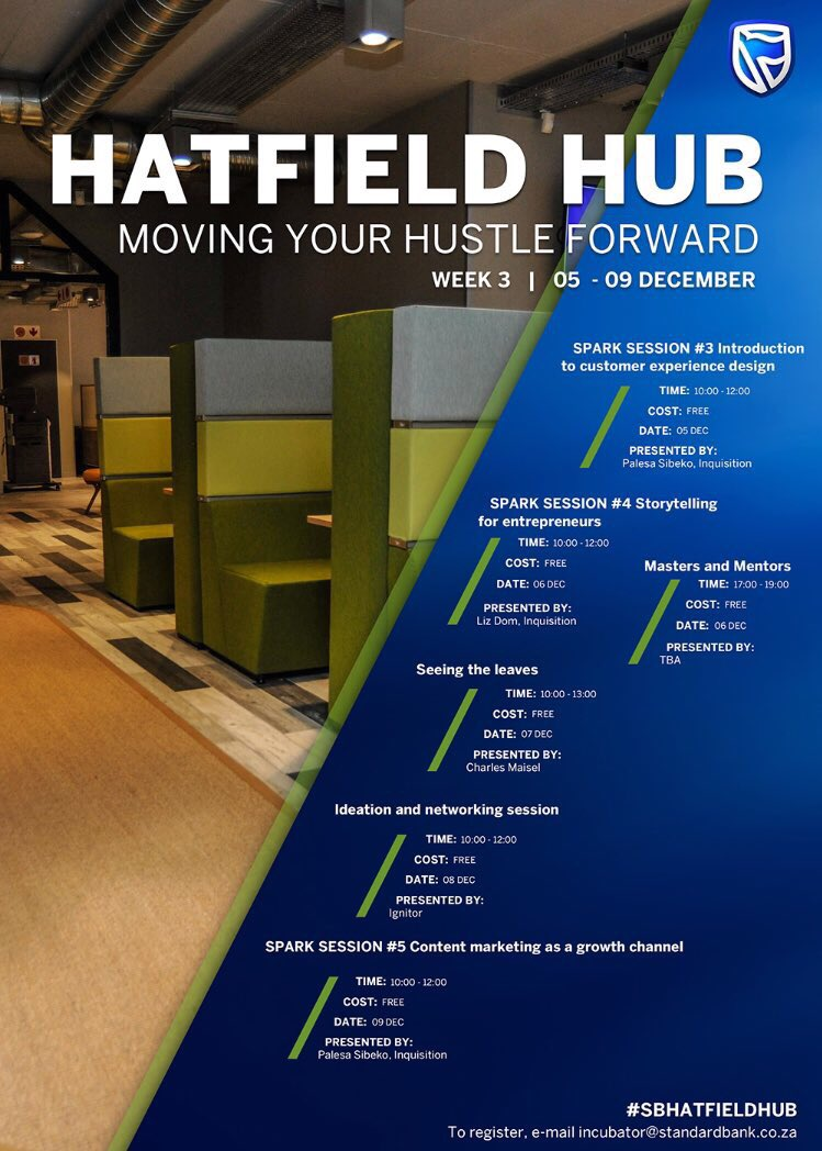 Standard Bank Hatfield Hub Week 3 05-09 Dec 2016