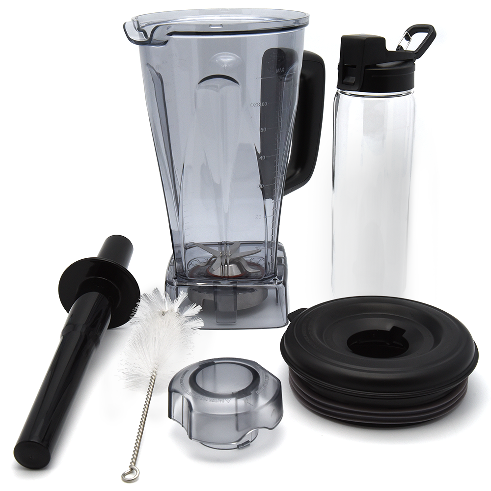 EASY CLEANING   Don't stress the mess after blending your culinary creations—simply place the pitcher, lid, and travel bottle in the dishwasher when you're done.
