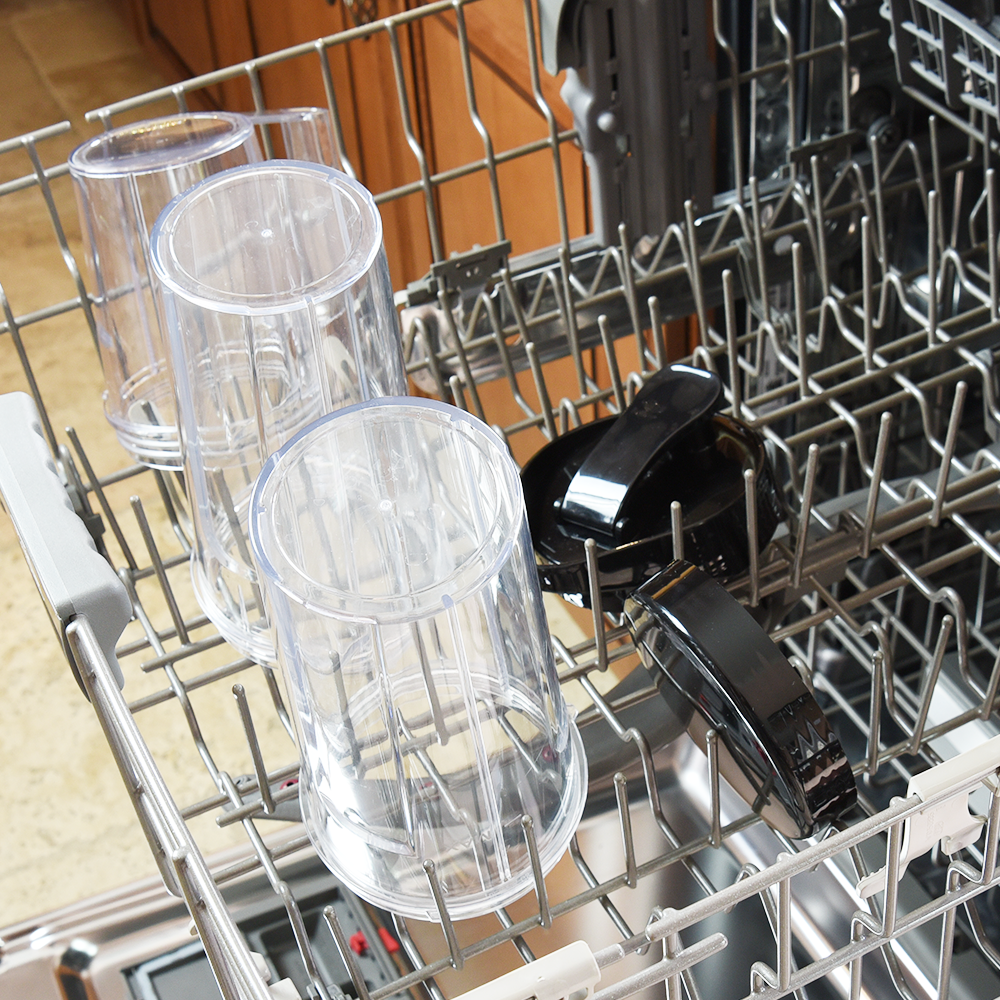 POST-BLEND EASE   Dishwasher-safe & easy-to-clean detachable parts.