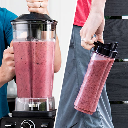 Plenty for the Family   The BPA-free blender pitcher's 60-oz capacity makes enough for the whole household. Take some to-go in the included personal travel bottle.