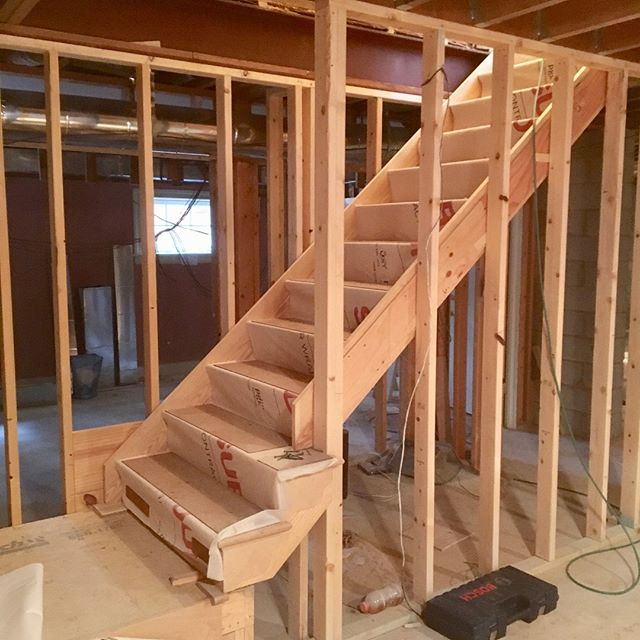 I love reshaping and connecting spaces! This staircase was once a closet. Relocating the basement access provides our client with a larger kitchen above. Next up: designing a hideaway under the stairs for the grandchildren! . . . #spacedesign #spacialdesign #spaceplanning #spaceplanninganddesign #architecture #layoutdesign  #interiordesign #designer #interiors #home #homedesign #interiordesigner #designlife #belladesign #richmond #RVA #804 #renovation #redesign #remodel #homerenovation