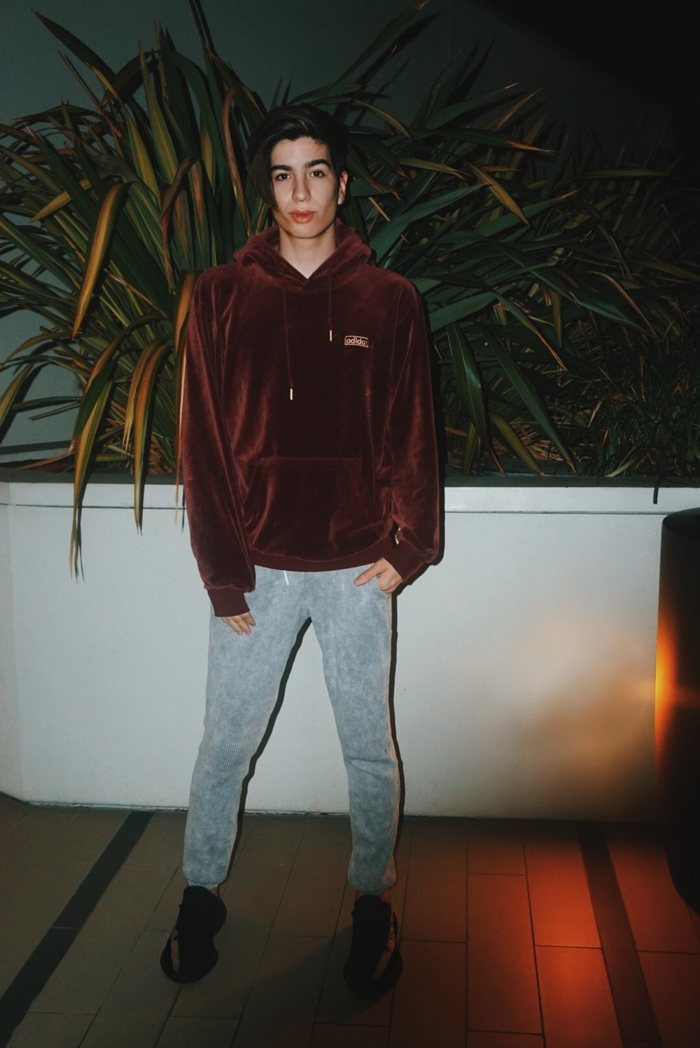 Adidas Velour Hoodie  Cotton Citizen Long Johns  Yeezy Boost