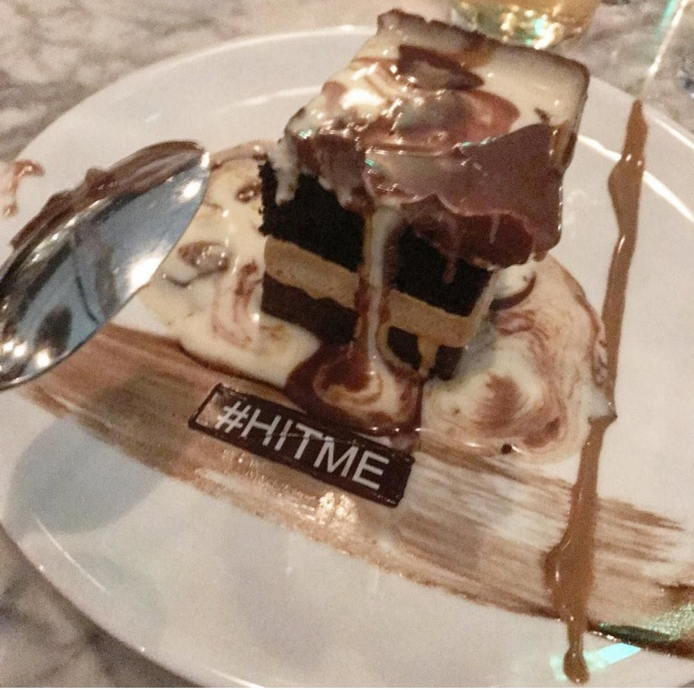Hit me cake dessert from Catch LA