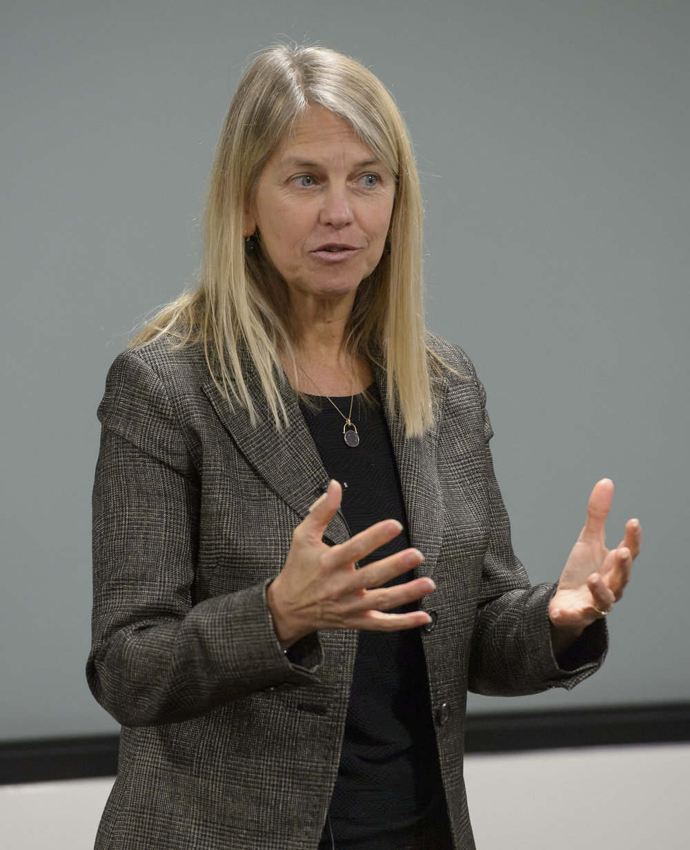 NASA Deputy Administrator Dava Newman welcomes participants to the iTech Forum at NASA Headquarters on December 7, 2016.