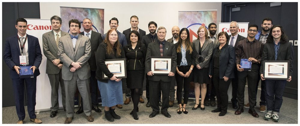 2018 NASA iTech Cycle I finalists represented the best entries across the U.S. in the latest NASA iTech Forum held at Canon U.S.A. in Melville, NY on Jan. 31 and Feb. 1, 2018.