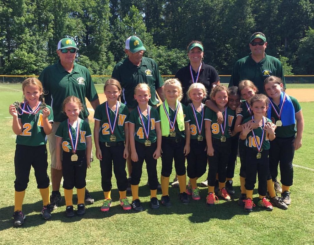 Wade Self (top left) has been an active coach for his daughter's Little League teams for years.
