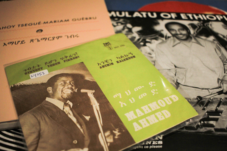 Mahmoud Ahmed - Gebtout Yehon Fikren? 45 Single (Mahmoud Records), Emahoy Tsegué-Mariam Guèbru biography, Mulatu of Ethiopia LP (Strut)