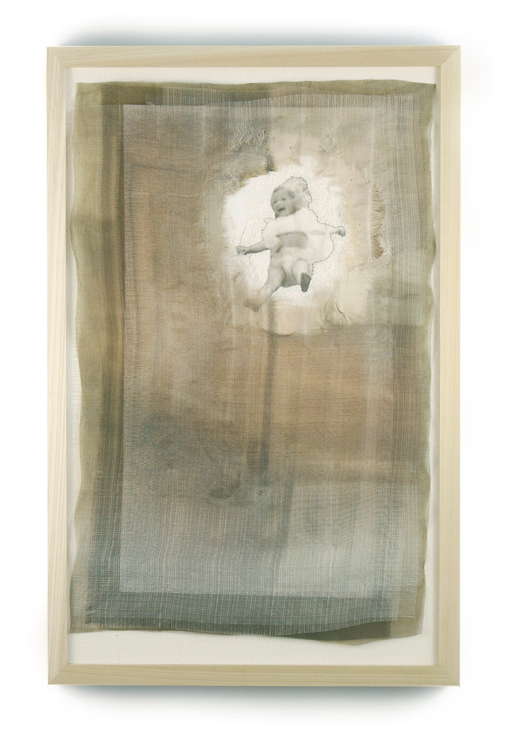 You Dreamed    Digital print, hand embroidery on silk, linen, hand dyed silk   2016