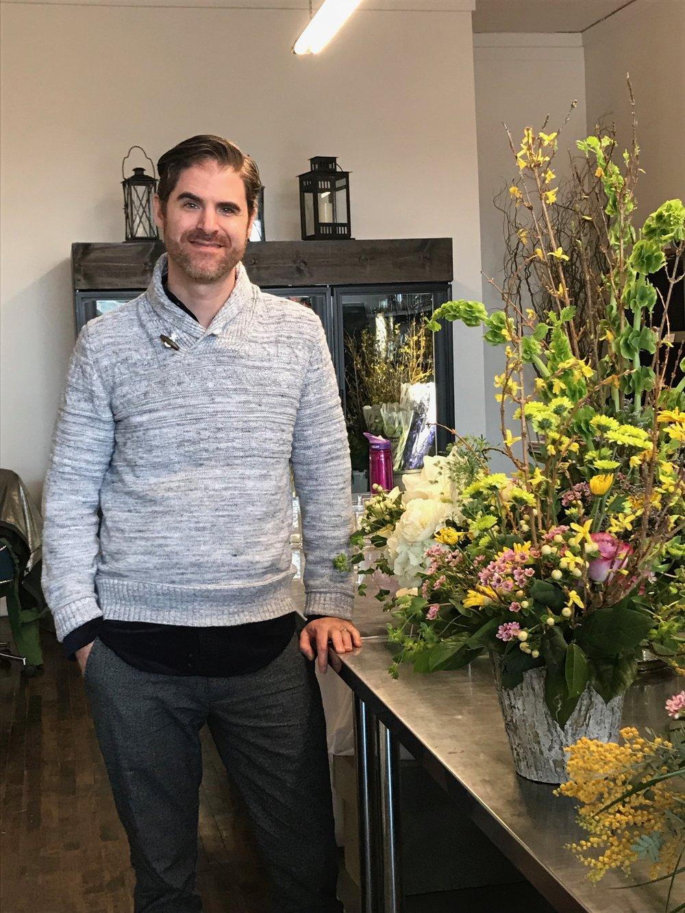 Bouquet designer Mark Griffith.