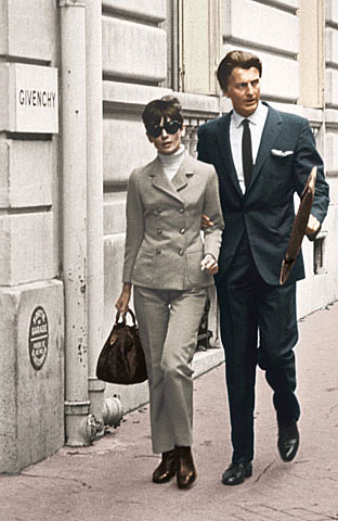 Hubert de Givenchy and Audrey Hepburn in Paris, 1960s . From the collection of Hubert de Givenchy