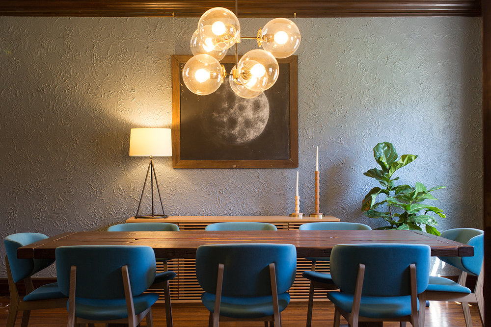 A Pax Modern chandelier in a Dundee home.