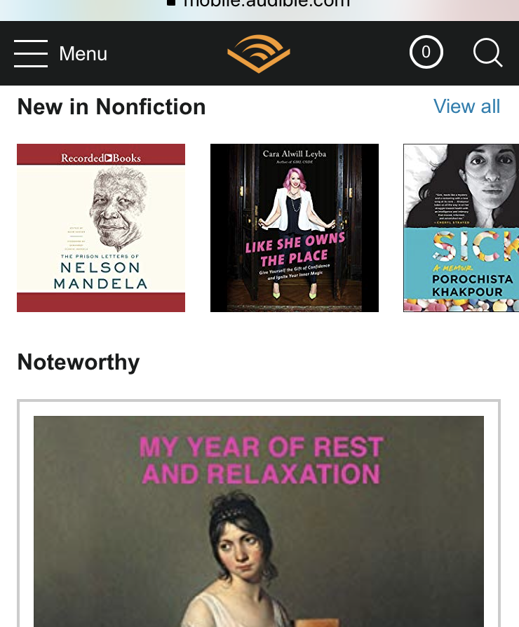 I've wanted to try Audible for ages, and  Prime Day subscriptions  are available right now for only $4.95/month for the first three months ($14.95/month after that). This couldn't be better timing for me because I have a road trip coming up and books tend to help me stay a little more alert whilst driving than music does.