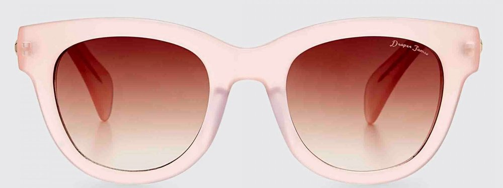 Part of Midge's charm is that even when things are at their worst, she prefers to look at the world through rose-colored glasses. And since she's spending some of season two in Paris, all the better to see la vie en rose. Stella Sunglasses in blush, $98 at  Draper James .