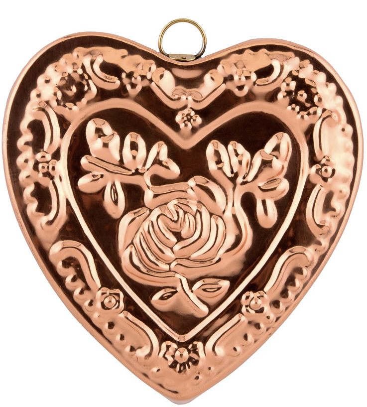 Before she went in to stand-up, Midge prided herself on making a hell of a jello mold. Old Dutch Solid Heart Rose Baking Mold in copper, $18 on  Amazon.
