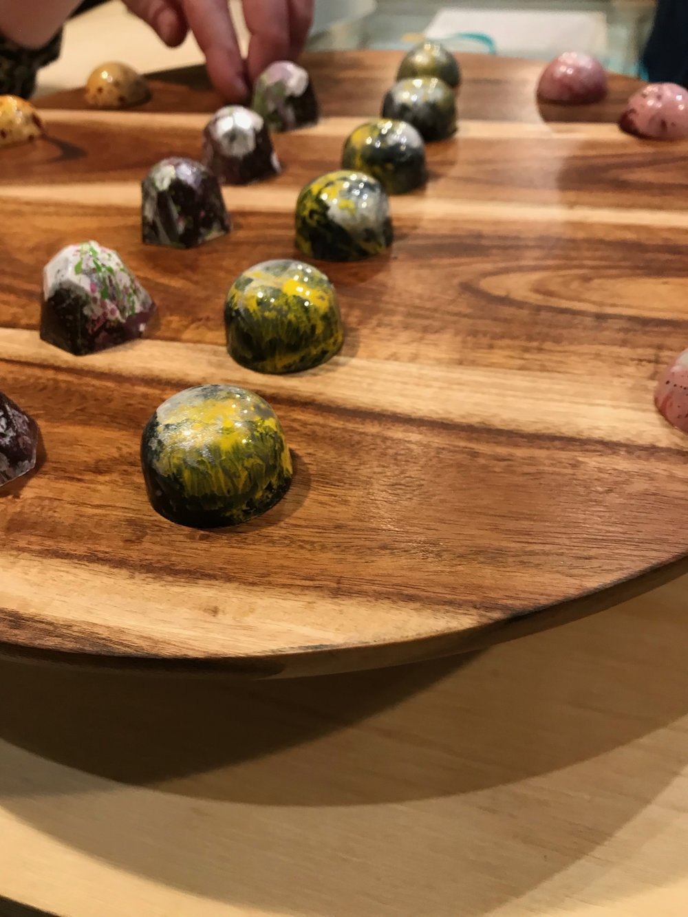 Each one of these sublime hand-painted chocolates from Farine + Four, Nebraska's only totally organic bakery, takes four days to make.