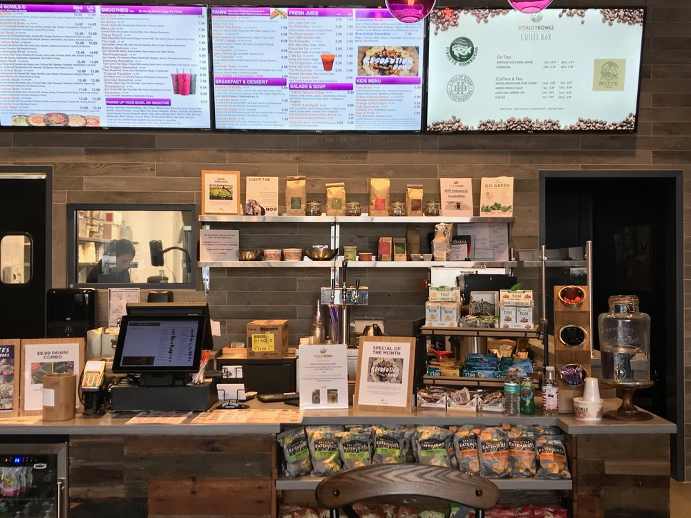 Vitality Bowls's massive menu makes it a good choice for those following a plant-based diet, Whole 30, Keto… or no diet at all.