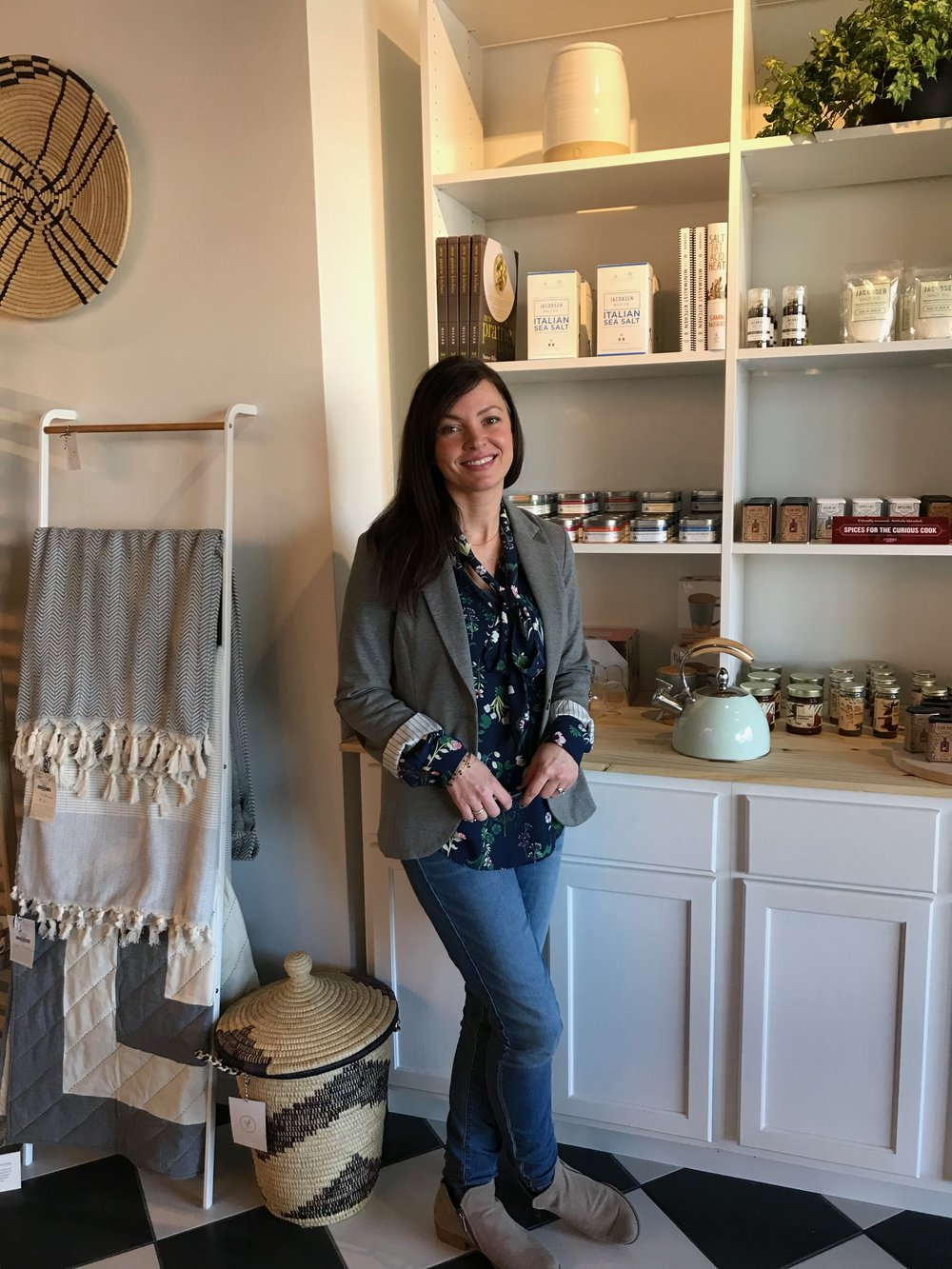 Brooke Keele, owner of The Dapper Dwelling, a modern-day general store in Omaha's Countryside Village.