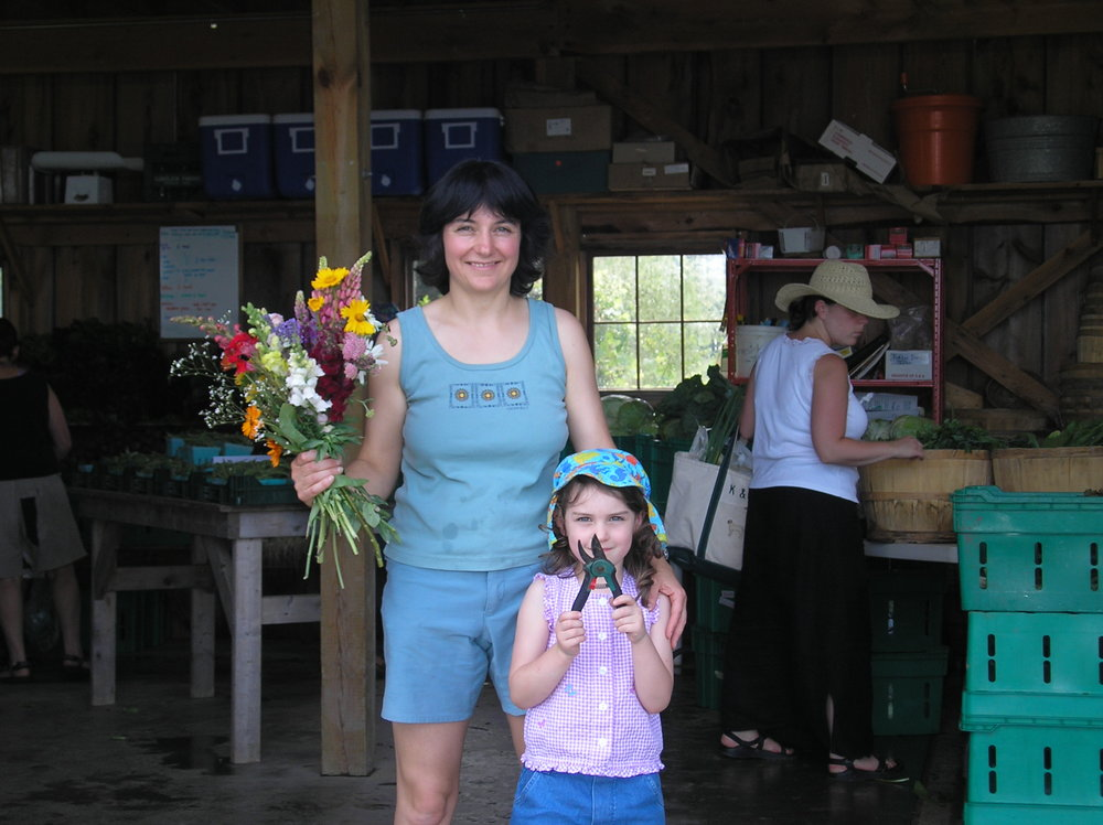 Mother Daughter Upick Flowers.JPG