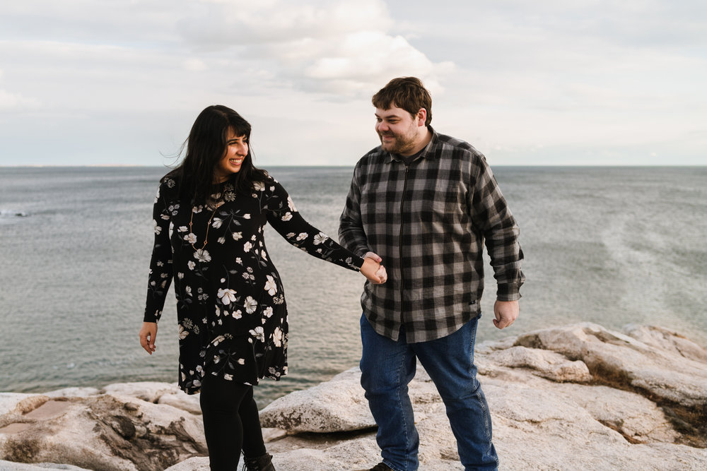 reid state park maine sunset ocean engagement session 6