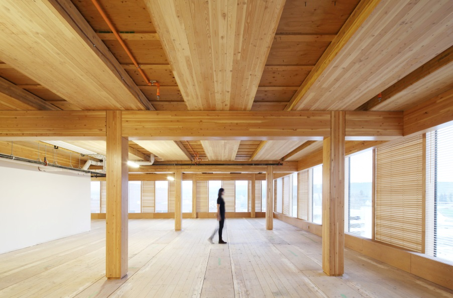 Wood Innovation Design Center, Prince George, BC. Michael Green Architects, 2014 | 8 stories     Used as a model to mid- and high-rise timber construction, WIDC's basic structural concept can be minimally modified & translated into projects 20-30 stories high!