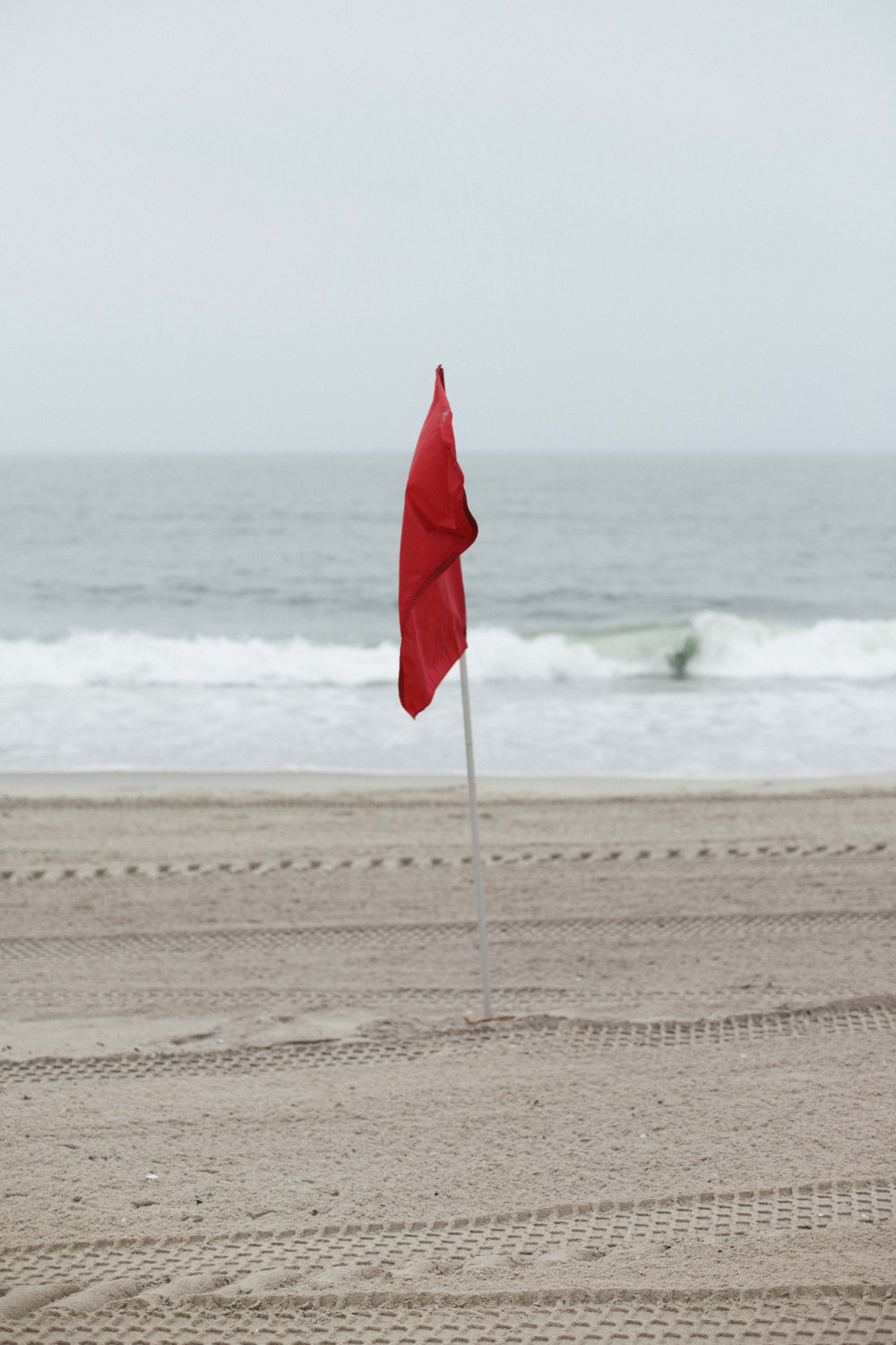 No swimming. Rockaway Beach - June 2014.