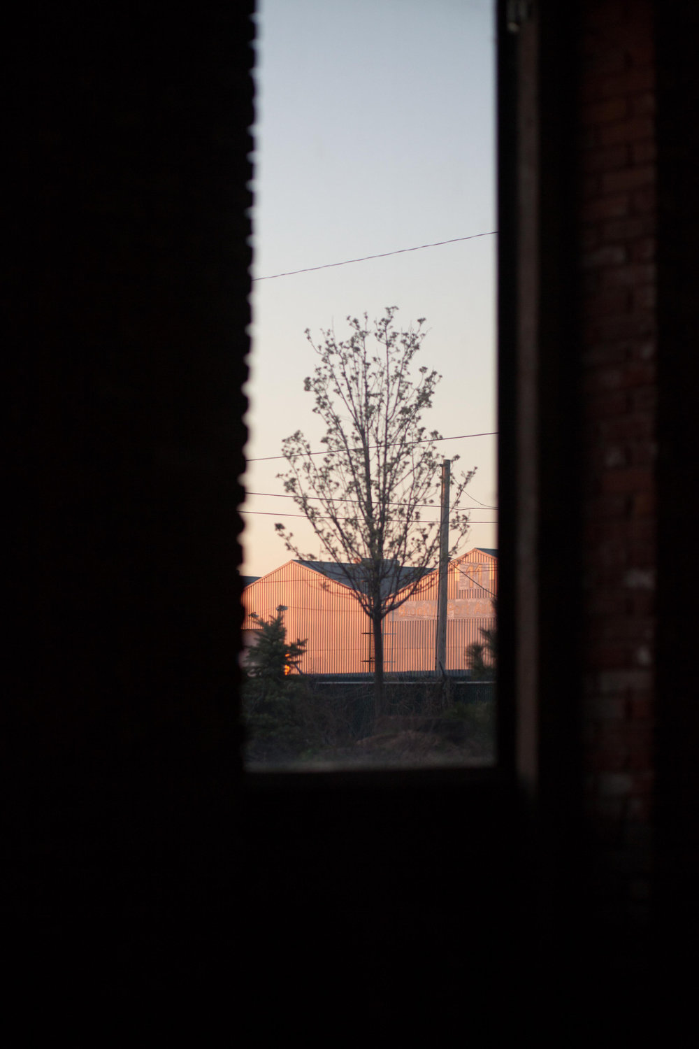 Through the window. Red Hook - April 2014.