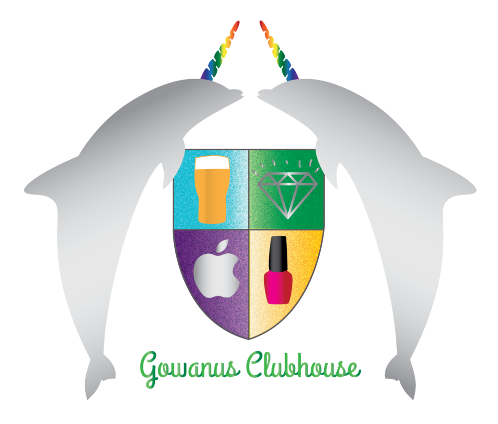 I can't believe I didn't post this ages ago. My amazing roommate Carly and I created this crest for our apartment which we named the Gowanus Clubhouse.