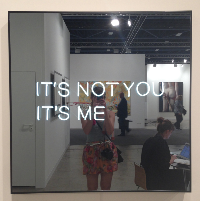 Another one of my favorites at Art Basel Miami Beach is this It's Not You It's Me by Jeppe Hein. See all of my photos from Basel on  Pinterest .