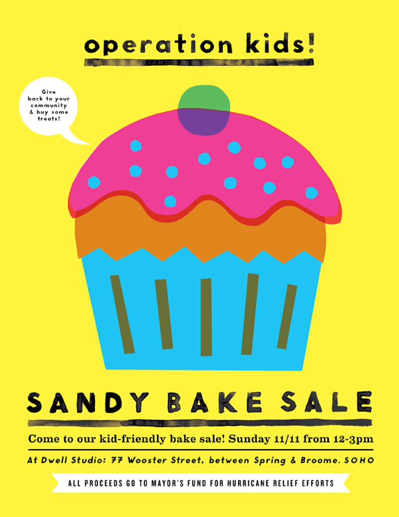 Joanna Goddard is hosting a bake sale this weekend to raise money for the Mayor's Fund for hurricane relief. If you or someone you know is in the area please consider heading over for some sweet treats to help the cause!