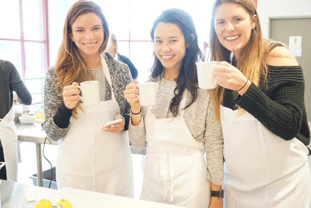 Sam, Deanna and Taylor enjoying the Beauty Boosting Unicorn Lattes at Superfood Society. I think they are working already - look at that glow!
