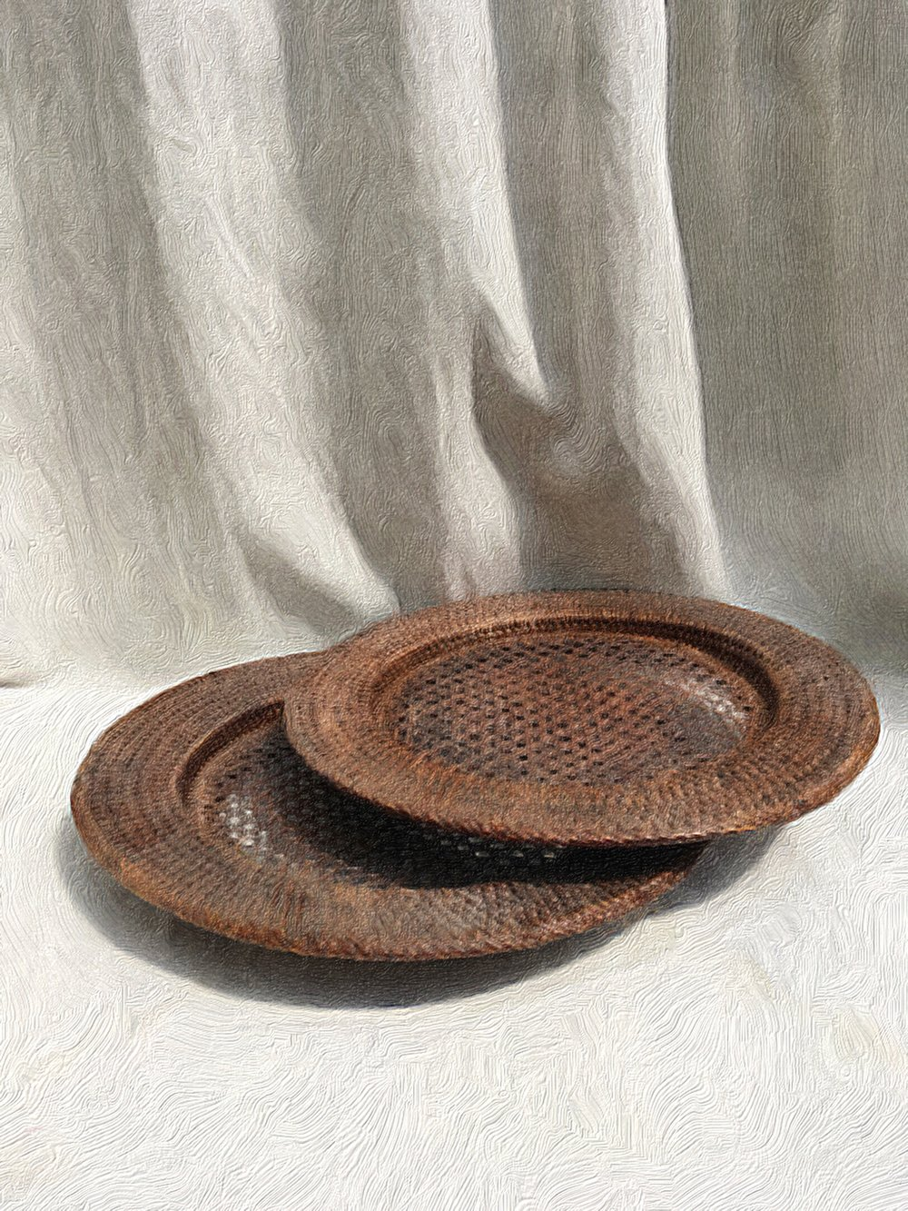 Rattan plate
