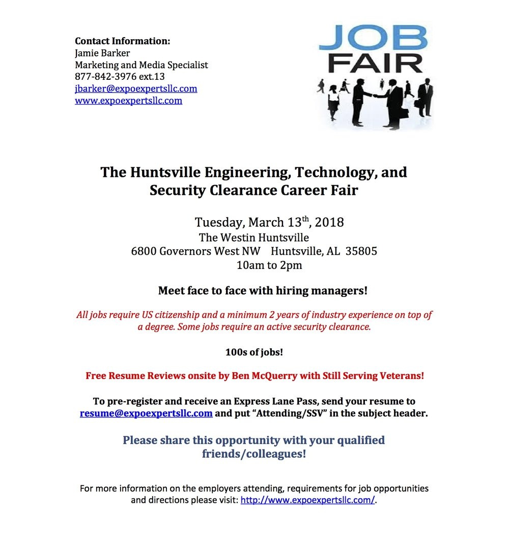 Expo Experts\' Engineering, Technology and Security Clearance Career ...