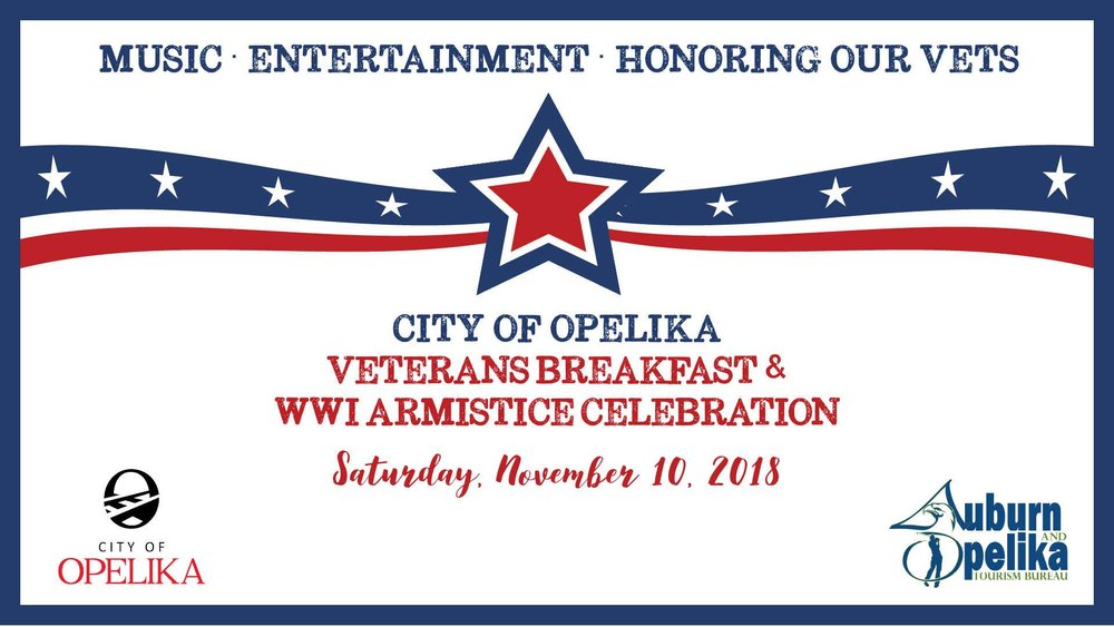 City of Opelika Veterans Breakfast and WWI Armistice Celebration
