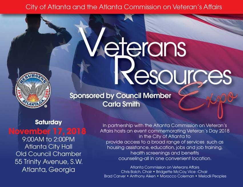 2018 City Of Atlanta Veterans Resource Expo