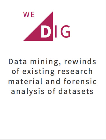 Data mining, rewinds of existing research material, forensic analysis of datasets
