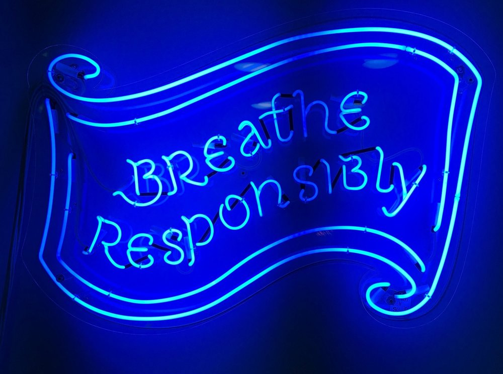 Breathe Responsibly - sage advice from the Bompas + Parr studios