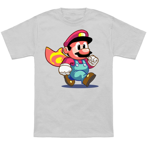 SUPER MARIO WORLD MARIO Based on the SNES sprite! Apparel and products available at TeePublic. Even more apparel options at NeatoShop.