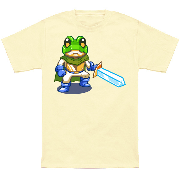 CHRONO TRIGGER FROG Based on the classic sprite from Chrono Trigger! Apparel and products available at TeePublic. Even more apparel options at NeatoShop.