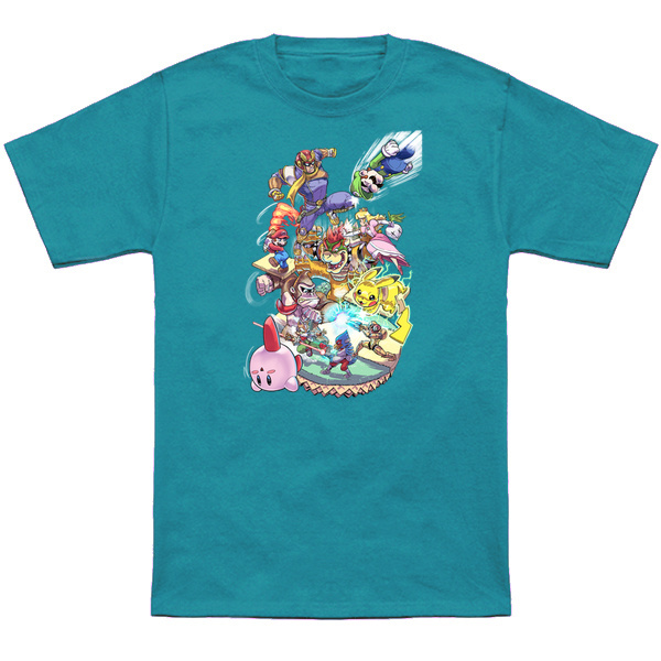 SUPER SMASH BROS. CLASSIC Represent your love of Super Smash Bros with this shirt representing all the characters and some of their most famous moves! Apparel and products available at TeePublic. Even more apparel options at NeatoShop.