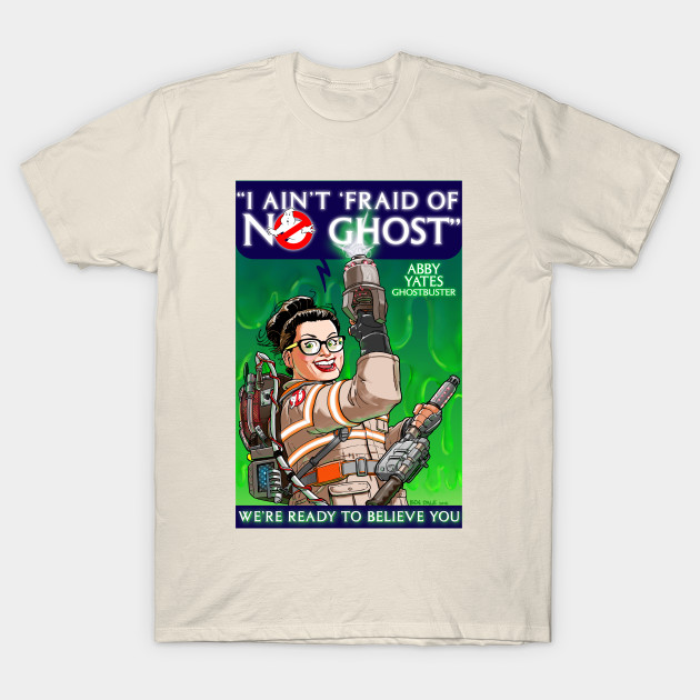 "GHOSTBUSTERS ABBY YATES ""Answer the Call"" with this Rosie the Riveter based shirt. Apparel and products available at TeePublic. Even more apparel options at NeatoShop."