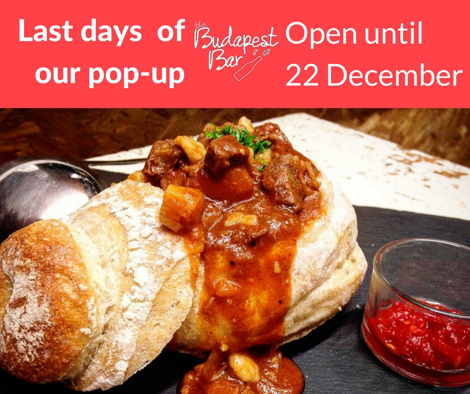 ONLY A FEW DAYS LEFT UNTIL WE FINISH OUR POP-UP! BOOK YOUR TABLES NOW FOR DINNER UNTIL 22 DECEMBER 2017.
